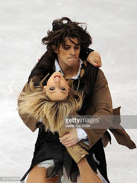Sinead Kerr and John Kerr from Great Britain perform during the Ice Dance Free Dance event of the 2009 World Figure skating Championships at the...
