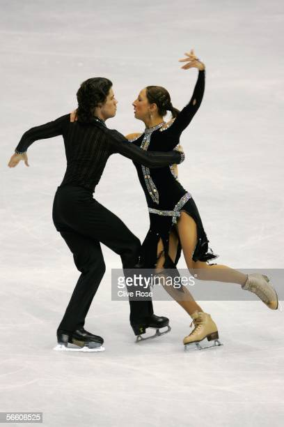 Sinead Kerr and John Kerr in action during the Ice Compulsory Dance at the ISU European Figure Skating Championships on January 17, 2006 at the...