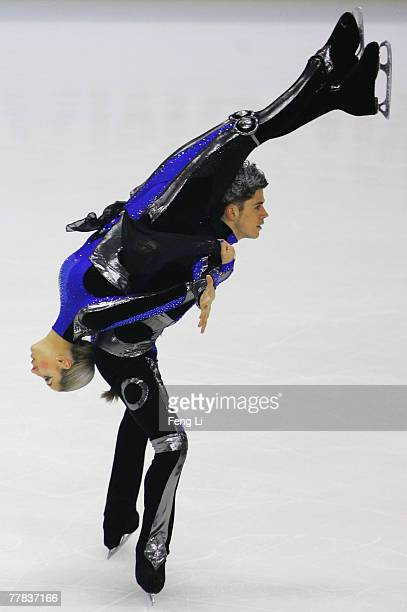 Sinead Kerr and John Kerr of Britain skate in the Ice Dancing Free Dance during the Cup of China Figure Skating competition which is part of the ISU...