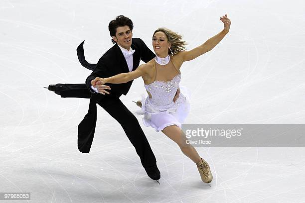 Sinead Kerr and John Kerr of Great Britain compete in the Ice Dance Compulsory Dance during the 2010 ISU World Figure Skating Championships on March...
