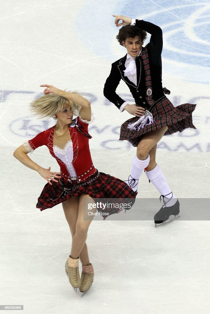 Sinead Kerr and John Kerr of Great Britain compete in the Ice Dance Original Dance during the 2010 ISU World Figure Skating Championships on March 25, 2010 at the Palevela in Turin, Italy.