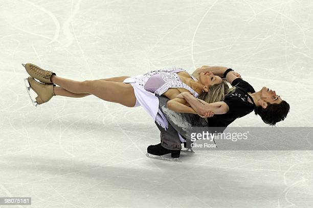 Sinead Kerr and John Kerr of Great Britain compete in the Ice Dance Free Dance during the 2010 ISU World Figure Skating Championships on March 26...