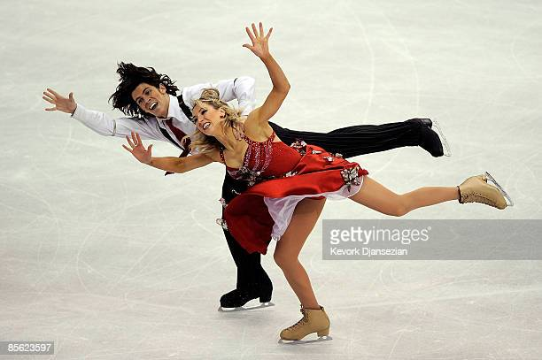 Sinead Kerr and John Kerr of Great Britain compete in the Original Dance competition during the 2009 ISU World Figure Skating Championships on March...