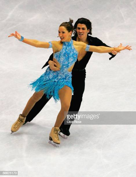 Sinead Kerr and John Kerr of Great Britain in action during the Original Ice Dance at the ISU European Figure Skating Championships on January 19...