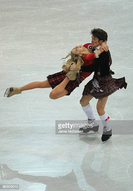Sinead Kerr and John Kerr of Great Britain in action during their Ice Dance Original Dance during the ISU World Figure Skating Championships at the...
