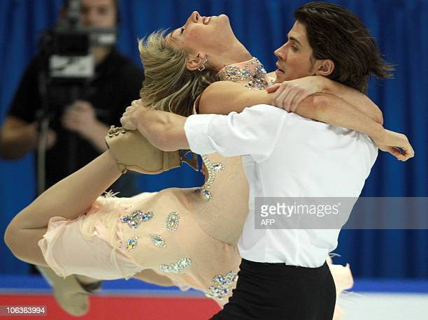 Sinead Kerr and John Kerr of Great Britain skate their short dance in the ice dance competition at the 2010 Skate Canada International in Kingston...