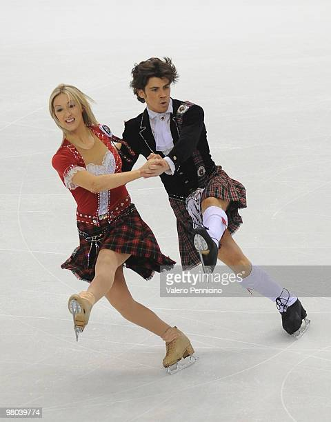 Sinead Kerr and John Kerr of Greit Britain compete in the Ice Dance Original Dance during the 2010 ISU World Figure Skating Championships on March 25...