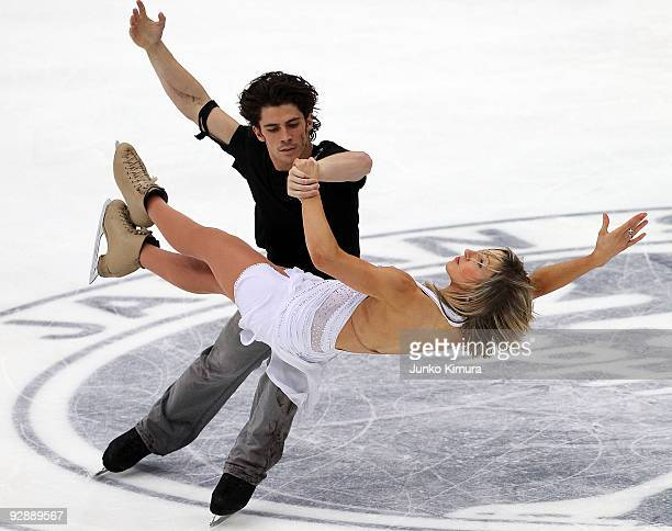 Sinead Kerr and John Kerr of the Great Britain perform in the Ice Dance Free Dance on the day three of ISU Grand Prix of Figure Skating NHK Trophy at...