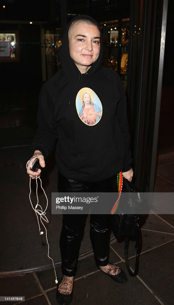 Sinead O'Connor arrives at the Late Late Show on March 16, 2012 in Dublin, Ireland.