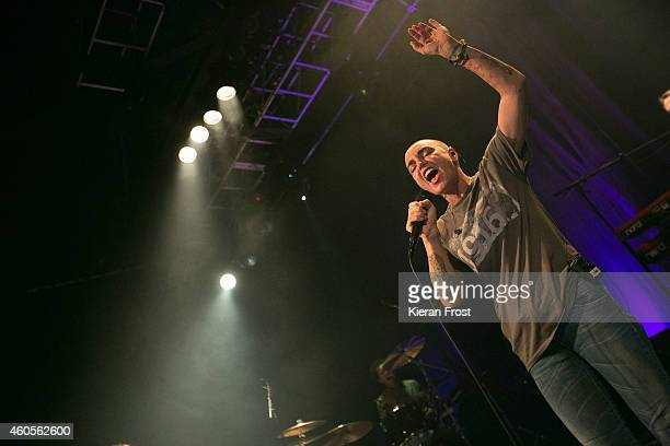 Sinead O'Connor performs on stage at Vicar Street on December 16, 2014 in Dublin, Ireland.