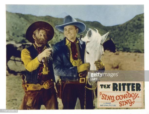Sing Cowboy Sing US lobbycard from left Al St John Tex Ritter 1937