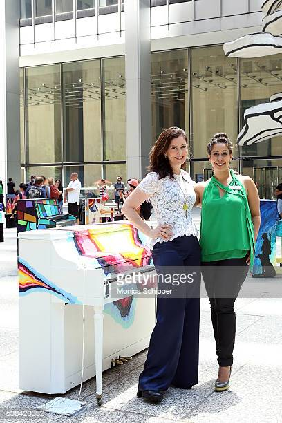 Sing For Hope cofounders Camille Zamora and Monica Yunus attend the The 2016 Sing For Hope Pianos launch event on June 6 2016 in New York City