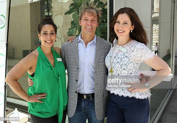 Sing For Hope cofounders Monica Yunus and Camille Zamora and event emcee Lonnie Quinn attend the The 2016 Sing For Hope Pianos launch event on June 6...