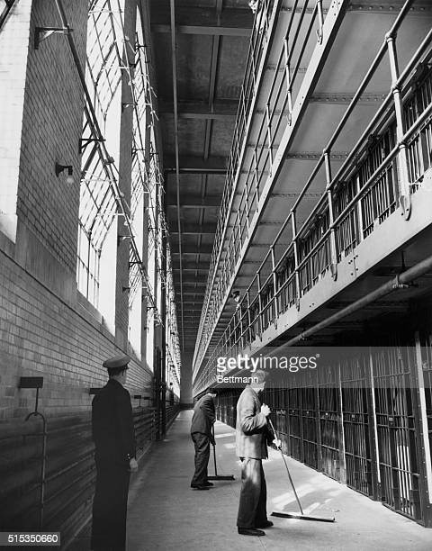 Sing Sing NYPhoto shows interior view in the new cell block of Sing Sing Prison Undated