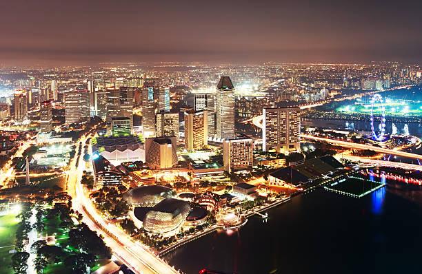 Singapore Aerial View Wall Art