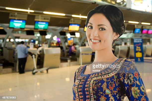 Singapore Airlines Check-In Row