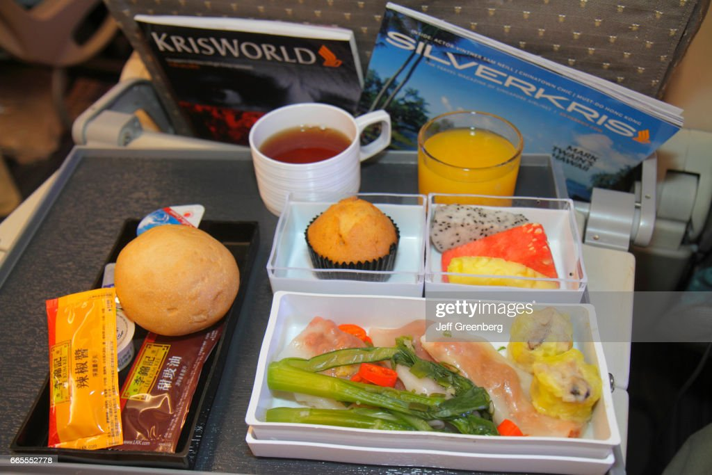 Singapore Airlines onboard meal. : News Photo