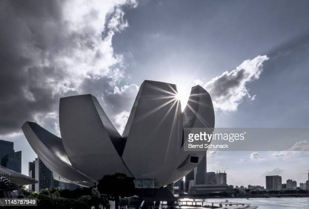 singapore artscience museum - bernd schunack stock photos and pictures