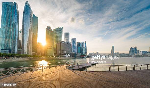 Singapore in der Dämmerung