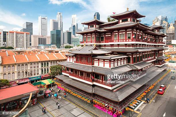 singapore buddha tooth relic temple - kandy kandy district sri lanka stock pictures, royalty-free photos & images