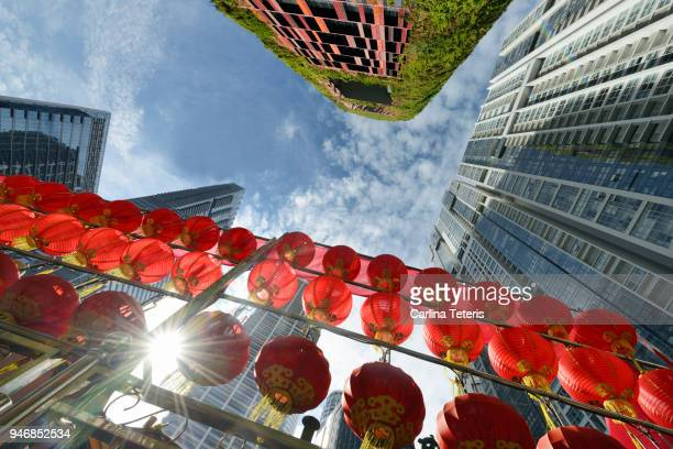 singapore business district skyline - sustainable architecture stock pictures, royalty-free photos & images
