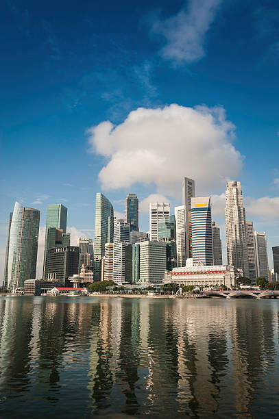 Singapore Central Business District Skyscraper Skyline Wall Art