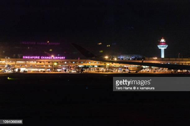 Singapore Changi Airport (SIN) in the night