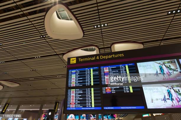 singapore changi airport terminal 4 - changi airport stock pictures, royalty-free photos & images