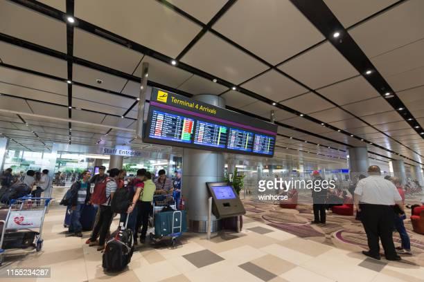 シンガポール・チャンギ国際空港第4ターミナル - チャンギ空港 ストックフォトと画像