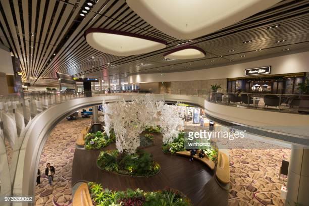 シンガポール ・ チャンギ国際空港ターミナル 4 - チャンギ空港 ストックフォトと画像