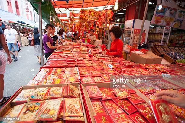 Singapore Chinatown 2014 Chinese New Year decoration vendor