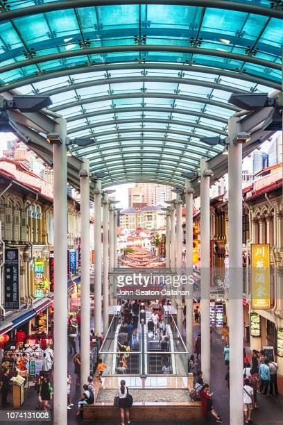 singapore, chinatown, pagoda street - シンガポール文化 ストックフォトと画像