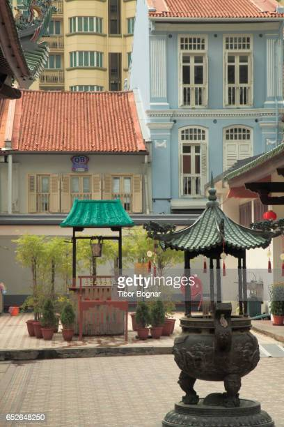 Singapore, Chinatown, Thian Hock Keng Temple, courtyard,