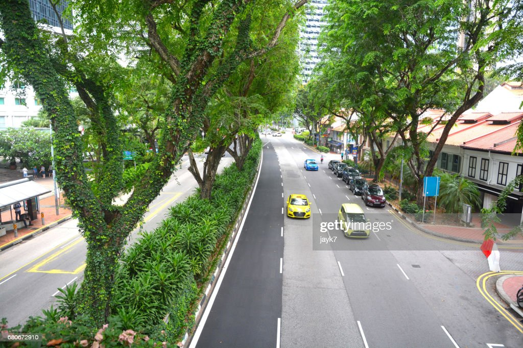 Singapore City Roads Stock Photo - Getty Images