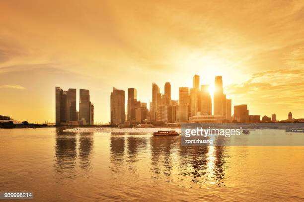 singapore city skyline - singapore city stock pictures, royalty-free photos & images