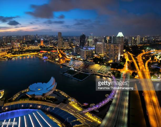 Singapore cityscape from top view