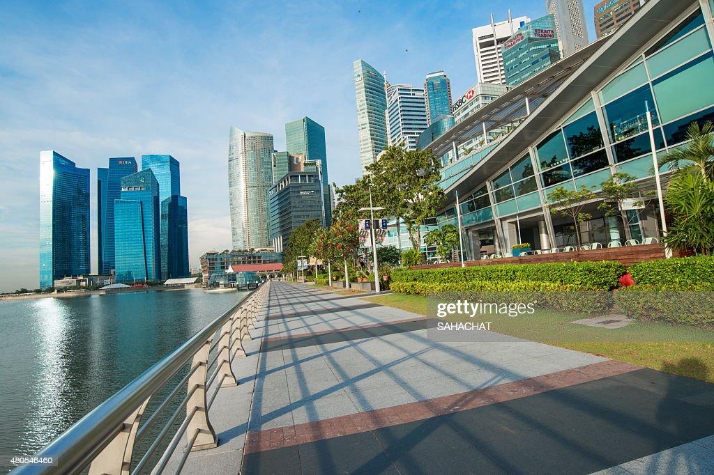 Ciudad de singapur : Foto de stock