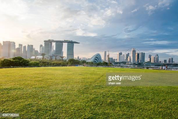 singapore cityscape - ciudad de singapur fotografías e imágenes de stock