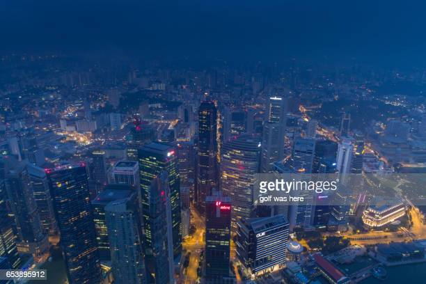 singapore cityscape - marina square stock photos and pictures