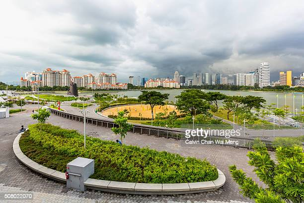 Singapore cityscapes viewed from Sports Hub