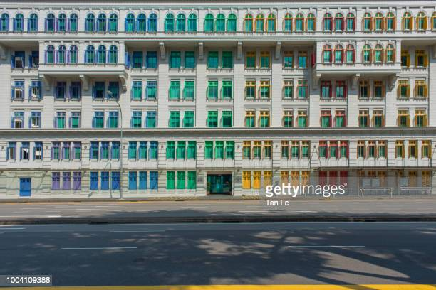Singapore Colorful windows,Front of MICA Building