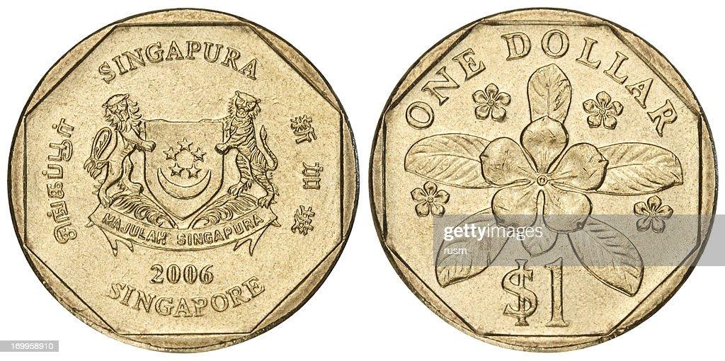 Singapore Dollar On White Background Stock Photo Getty Images