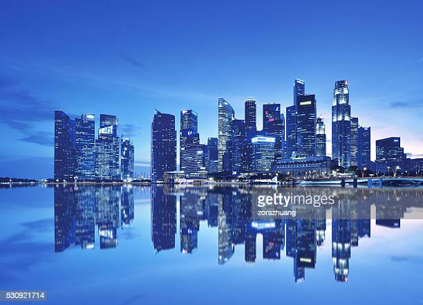 singapore financial district - singapore city stock pictures, royalty-free photos & images