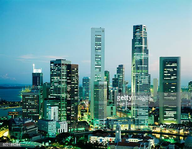singapore financial district. singapore. - hugh sitton stock pictures, royalty-free photos & images