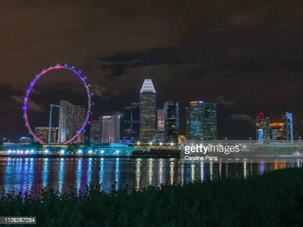 Singapore Flyer and city skyline