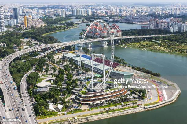 singapore flyer - singapore flyer stock photos and pictures