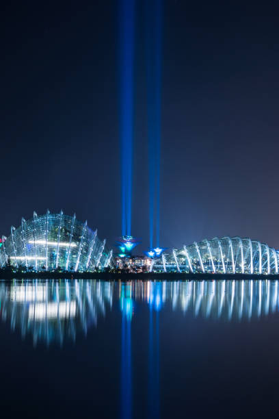 Singapore garden by the bay with light saber