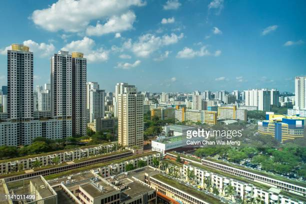 singapore high rise public residential housing - housing difficulties stock pictures, royalty-free photos & images