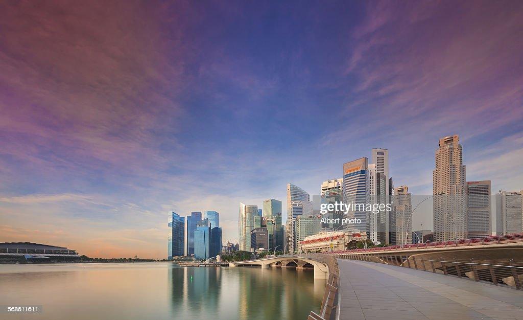 Singapore jubilee bridge : Stock Photo