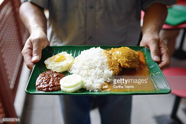 Singapore local food - nasi lemak